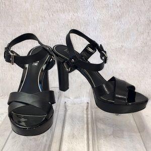 Ralph Lauren Sabira Black Heel Sandal